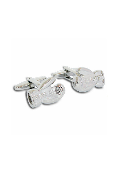 A.Azthom Boxing Gloves Silver Two-tone Cufflinks