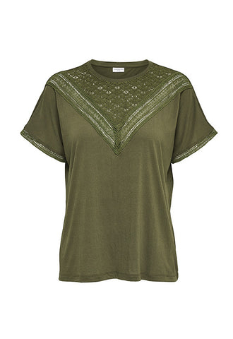 Jacqueline de Yong Lace Top, Green