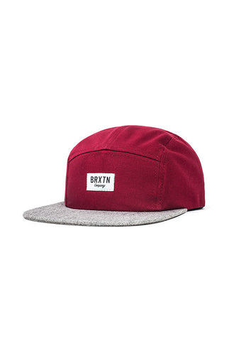 Brixton Hoover 5 Panel Cap, <br/>Burgundy