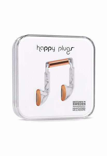 Happy Plugs Earbud, Carrara Marble