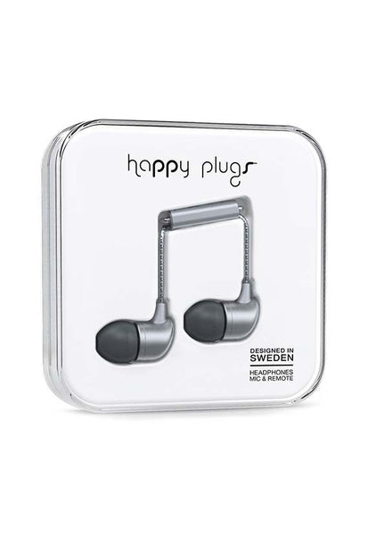 Happy Plugs In-Ear Earbud, Space Grey