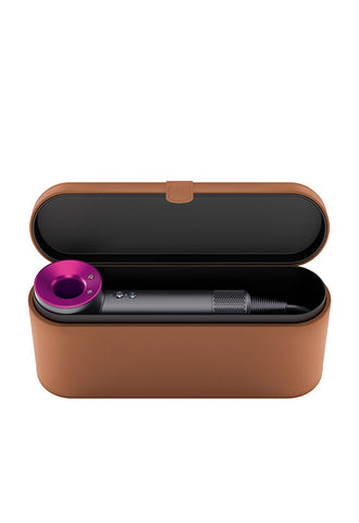 Dyson Supersonic™ Hair Dryer, Iron/Fuchsia with Brown Leather Case