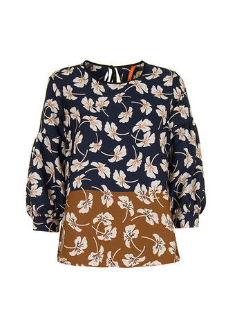 Imperial Fashion 2 Tone Floral Top