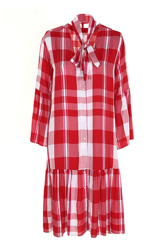 Imperial Fashion Check Shirt Dress