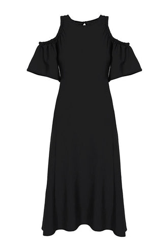 Imperial Fashion Cold Shoulder Flare Dress