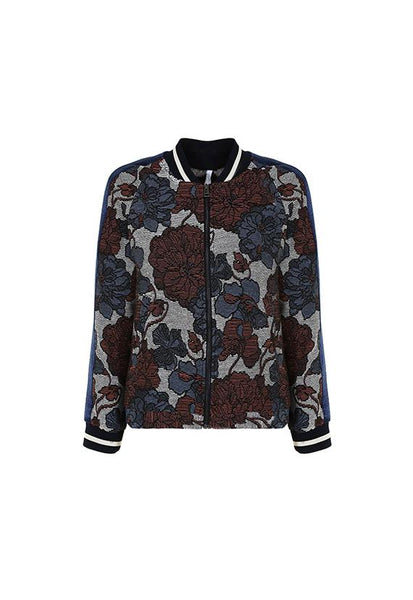 Imperial Fashion Floral Jacquard Bomber
