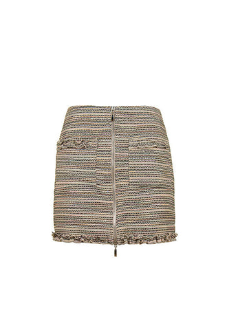 Imperial Fashion Short Sequin Tweed Skirt