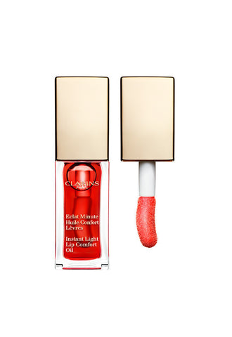 Clarins Instant Light Lip Comfort Oil, Red Berry