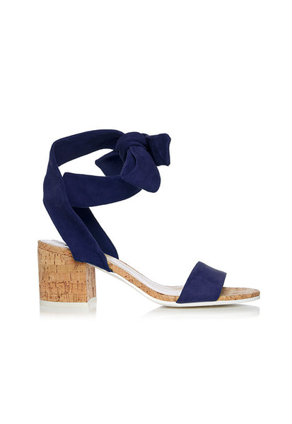Dune Jonee Wrap Around Block Heel, Navy