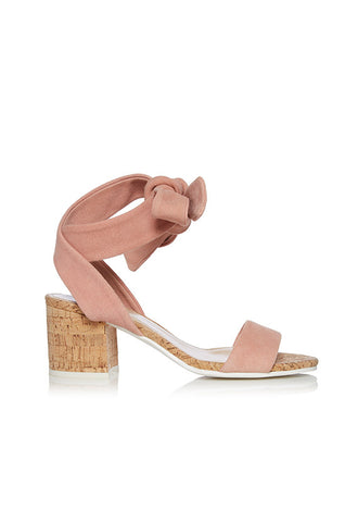 Dune Jonee Wrap Around Block Heel, Pink