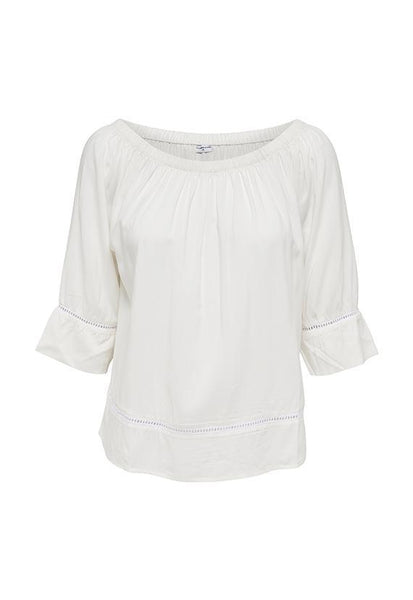 Jacqueline de Yong 2 way Off Shoulder Top, Cloud Dancer