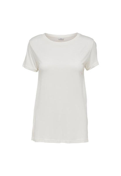 Jacqueline de Yong Basic Rib Tshirt, Cloud Dancer