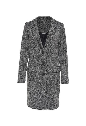 Jacqueline de Yong Besty Fall Jacket, Dark Grey Melange
