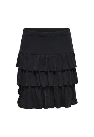 Jacqueline de Yong Frilled Skirt, Black