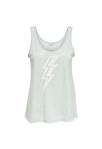Jacqueline de Yong Lightning Bolt Tank Top, Blue Haze