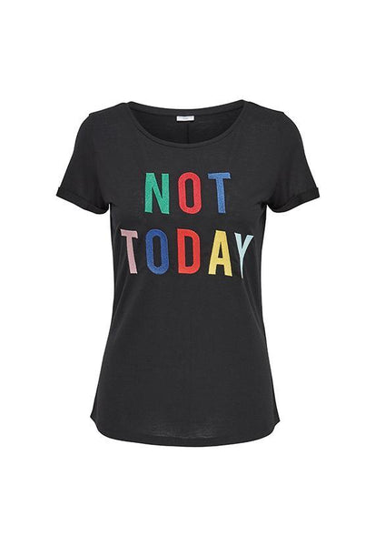Jacqueline de Yong Not Today Embroidery Tshirt