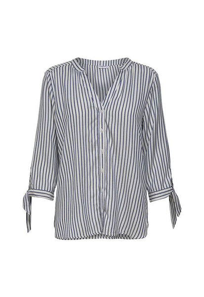 Jacqueline de Yong Stripe Blouse with Sleeve Ties