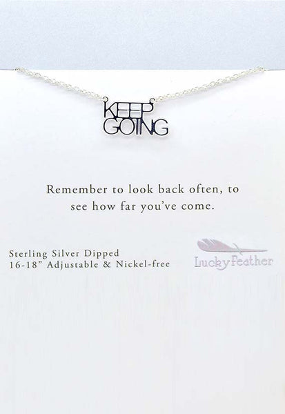 Lucky Feather Keep Going Necklace