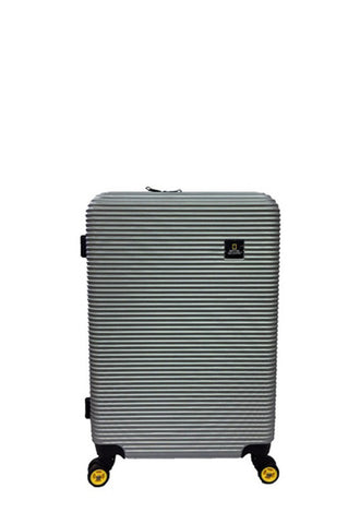 "National Geographic Abroad 24"" Luggage, Silver"