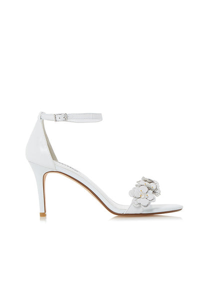 Dune Magnolea Heels With Applique, White