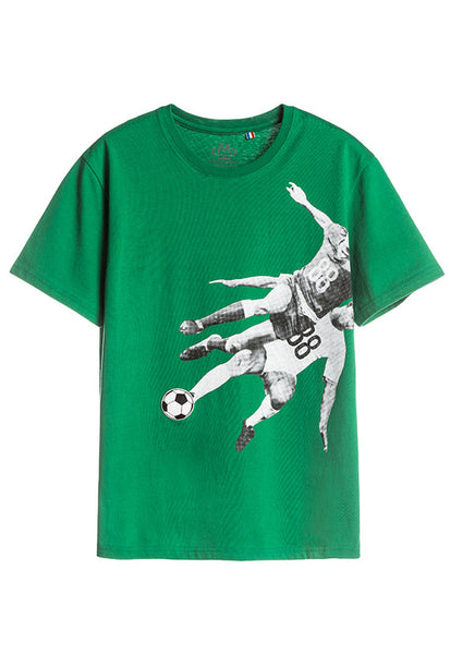 Tee Library Football T-Shirt, Green
