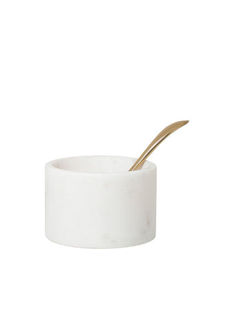 HK Living Marble Pinch Pot With Spoon