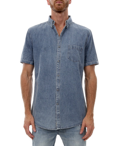 Industrie The Prescott Short Sleeve Shirt, Navy