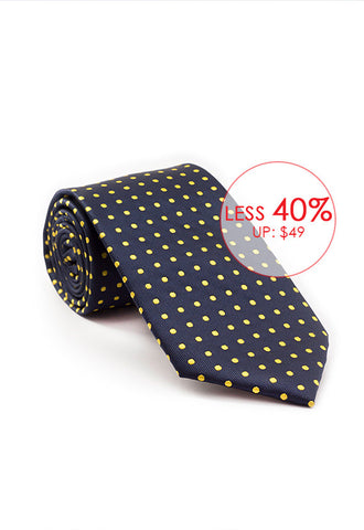 Marzthomson Navy with Yellow Polka Dot Tie
