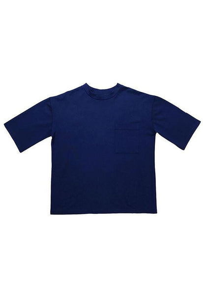 Evenodd Mid-collar Tee, Blue