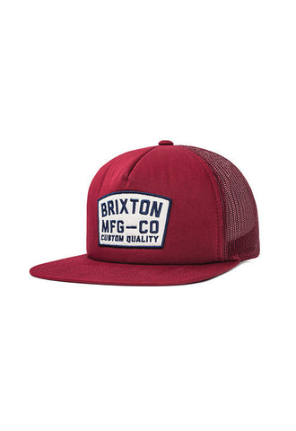 Brixton National Mesh Cap, <br/>Burgundy