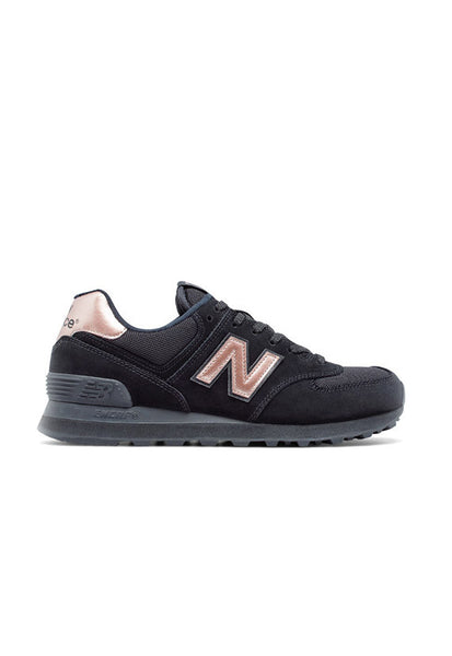 New Balance WL574CHD, Black/Gold