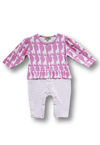 Le Top Newborn Sleepsuit, Pink