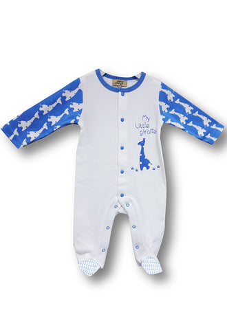 Le Top Newborn Sleepsuit With Covered Toes, Blue