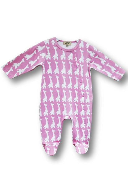 Le Top Newborn Sleepsuit With Covered Toes, Pink