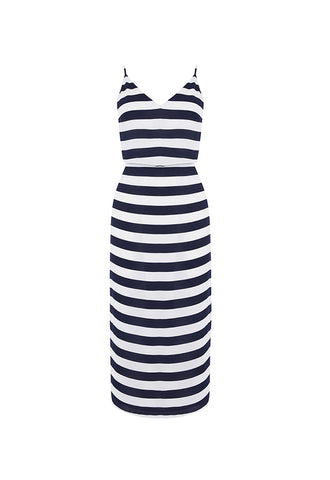 Oasis Stripe Tie Back Midi Dress