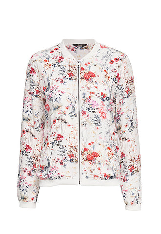 ONLY Nova Bomber Jacket, Snow White Floral
