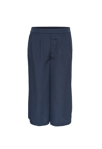 ONLY Solid Culotte Pants, Night Sky