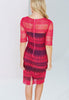 Paper Dolls Pink And Navy Crochet Panel Lace Dress