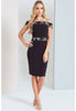 Paper Dolls Contrast Lace Bardot Dress