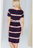 Paper Dolls Multi Stripe Print Dress with Belt