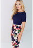 Paper Dolls Floral Printed Dress with Belt