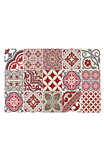 Beija Flor Eclectic Placemat, Red