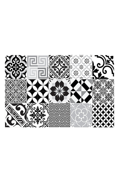 Beija Flor Eclectic Placemat, Black & White