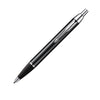 Parker IM Lacquer Black Chrome Trim Ballpoint Pen