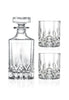 RCR Opera 3pc Crystal Whisky Decanter & Glasses Set
