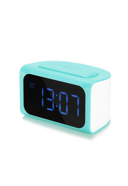 Remax Clock with 4 USB Port Charger, Blue