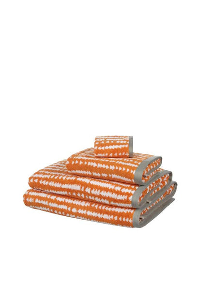 John Lewis Scandi Xander Bath Towels, Orange