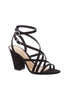 Schutz Strappy Block Heels, Black