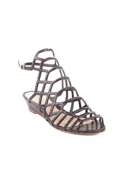 Schutz Cut Out Wedge Sandals, Hot Coffee