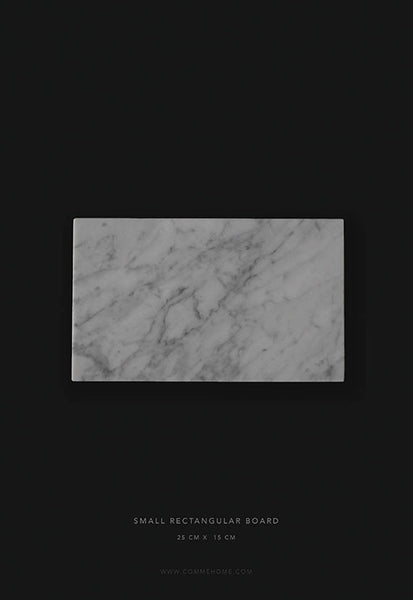 Comme Home White Rectangle Marble Board, Small